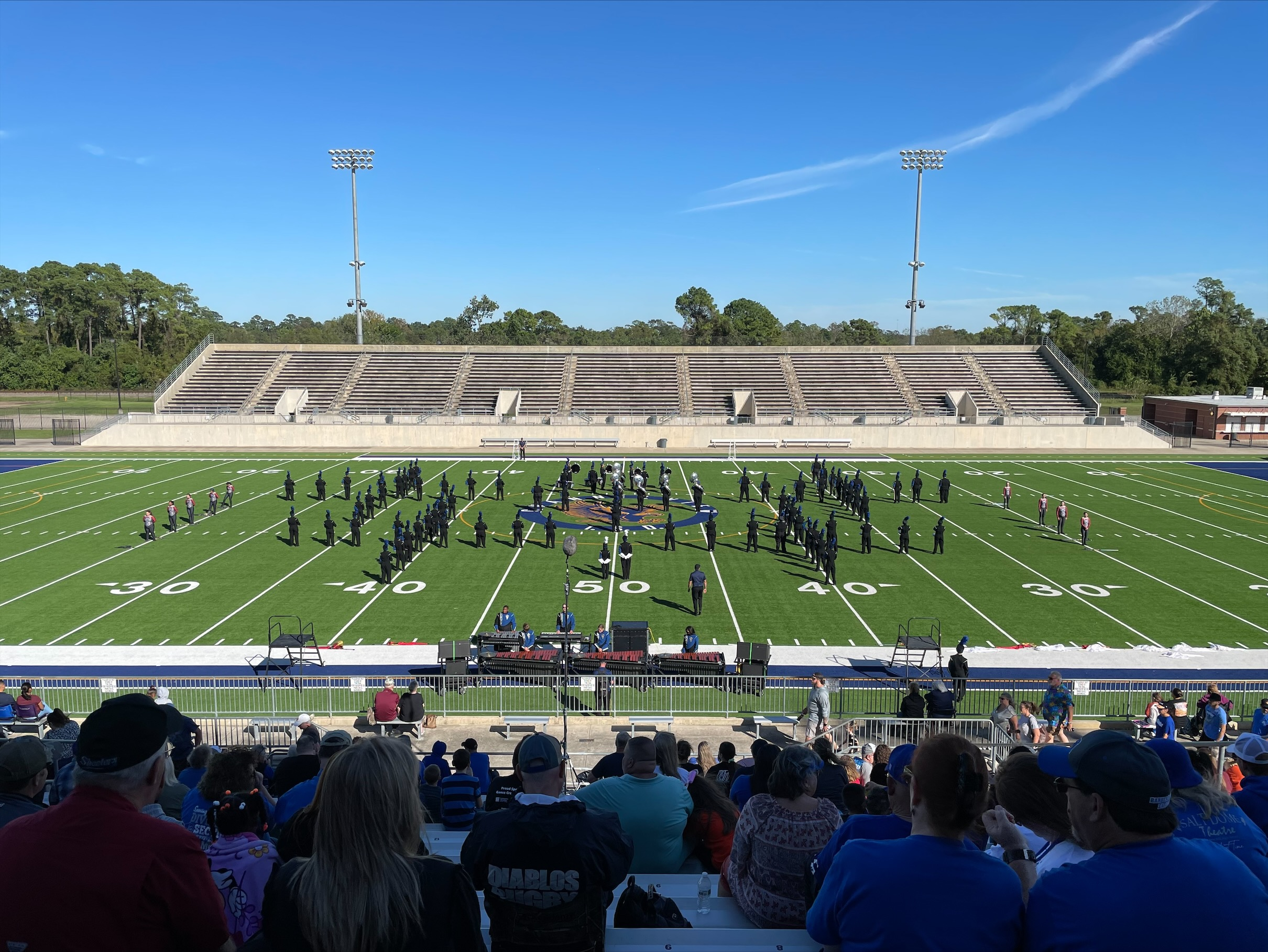 sterling band performs on field
